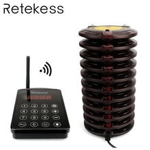 Retekess TD103 99 channel Waterproof Wireless Paging Queuing System 10 Coaster waiter calling system Pager for Restaurant