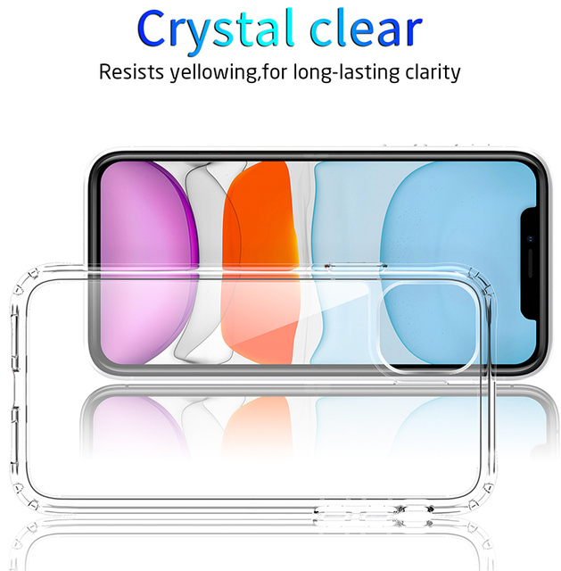 Shockproof Luxury Clear Transparent Silicone Phone Case For iphone 5 5S SE 6 6S 7 8 X XS 11 Pro MAX XR Plus 2020 Protection Case 5