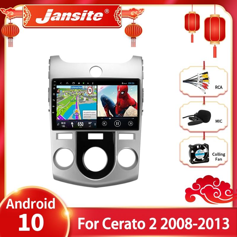 Магнитола Jansite на Android 10,0 для Kia Cerato 2 TD, 2008-2013 г., мультимедийный видеоплеер, 2din, 9 дюймов, GPS-навигация, DVD, стерео головное устройство