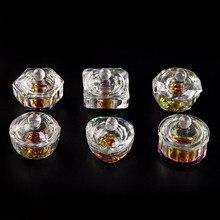 KADS 1 adet akrilik toz sıvı kristal cam Dappen bulaşık kase tutucu kalp şekilli kap fincan tırnak sanat manikür Salon aracı