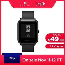 Amazfit بيب ساعة Bluetooth ذكية GPS الرياضة مراقب معدل ضربات القلب IP68 للماء مكالمة تذكير Amazfit APP الإخطار الاهتزاز