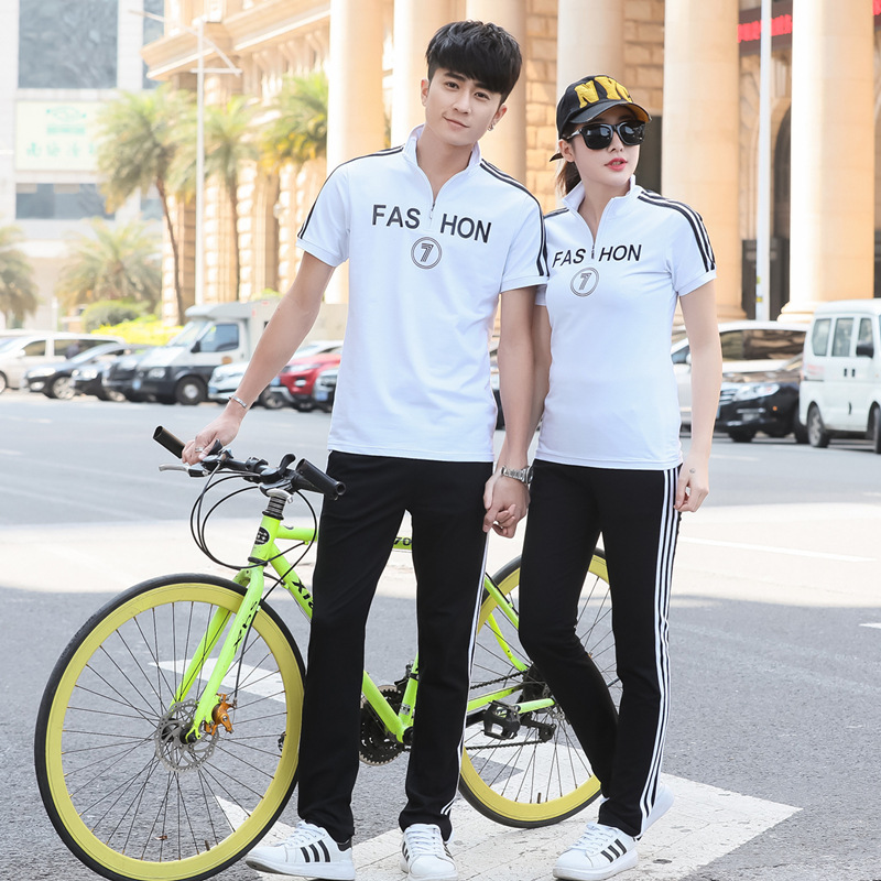 Summer Pure Cotton School Uniform Leisure Sports Suit Short Sleeve Trousers Set In Students High School Students Business Attire