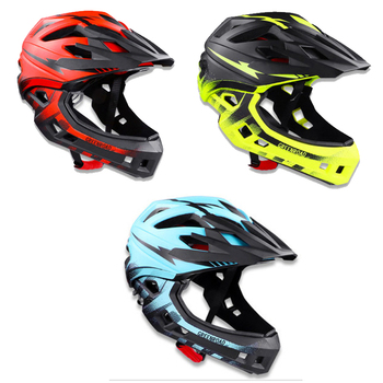 Light Cycling Helmet Detachable Full Face Helmet Breathable Safely Bicycle Cap For Children Kids MTB Road Bike Head Protection