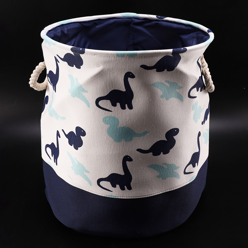 Dinosaur Cartoon Canvas Storage Basket For Toys Child Folding Laundry Basket Dirty Clothes Organizer