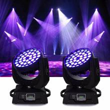 цена на Honhill 36x10W Stage Light Led DMX Lighting RGBW (4in1) LED Zoom Moving Head 360W Wash Stage Light 16ch For DJ Party Club