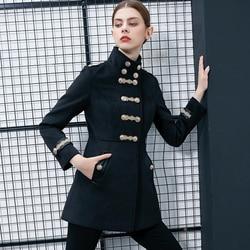 Winter Women Jacket Vintage Double Breasted Warm Trench Coat Elegant Military Lady Coat Abrigo Mujer Classic Streetwear Traf