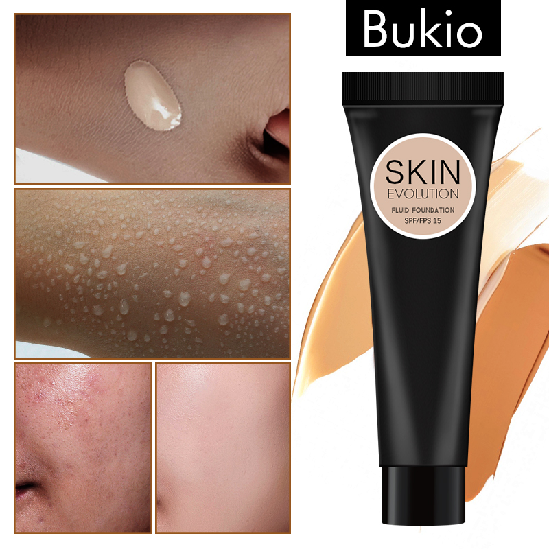 Bukio 2019 Make-Up Gesicht Basis <font><b>Foundation</b></font> Voller Abdeckung Tattoo Dark Eye Wasserdichte Langlebige Erhellen Concealer TLM image