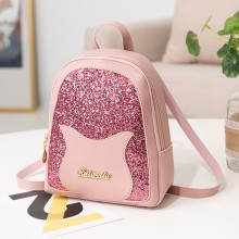 Модный женский маленький рюкзак с блестками, повседневный рюкзак, кошелек с надписью, рюкзак для мобильного телефона, KnapsackBag# YJ