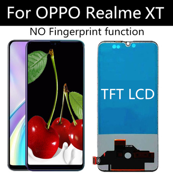 TFT LCD For OPPO realme XT LCD Display Touch Screen Digitizer Assembly Replacement For phone realmeXT EMX1991 6.4 LCD factory quality ips lcd display 7 85 for supra m847g internal lcd screen monitor panel 1024x768 replacement