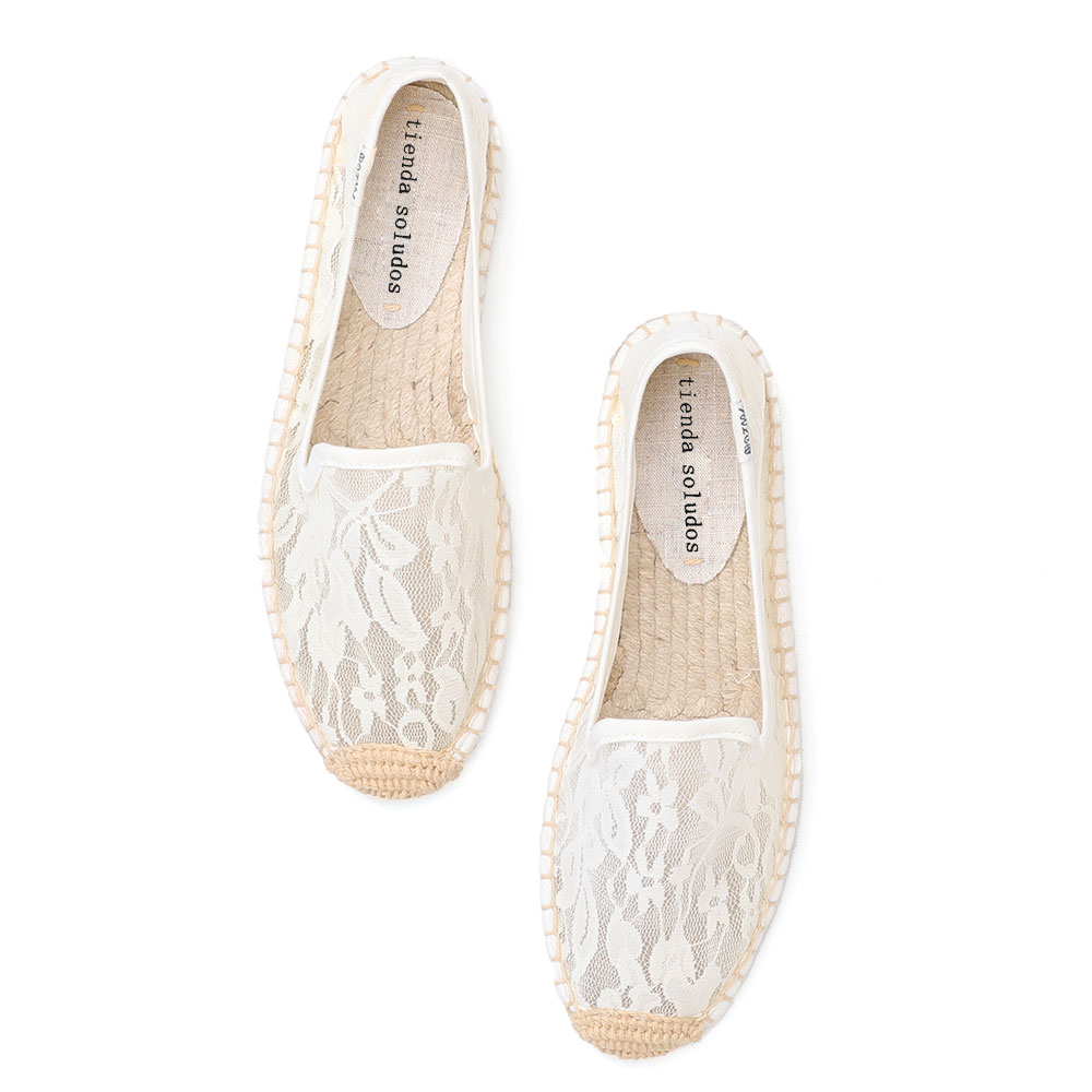2019 Sapatos Espadrilles Fashion Womens Flats Shoes Lace Hand-made Woven Emboridery Shoe Spring And Summer Slip On Espadrille