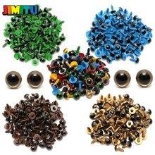 JIMITU 80 шт/40 пар 10 мм цветные пластиковые защитные глаза для плюшевого медведя мягкая игрушка оснастка животное кукла ремесло DIY аксессуары