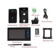 WD02KW11 от одного до двух видео домофон 220 в домашний беспроводной дверной звонок видеодомофон дверной телефон инфракрасного ночного видения Домашняя безопасность