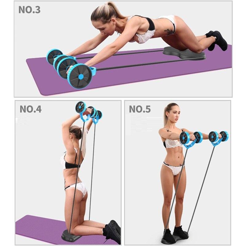 homens multi funcao dupla roda de rolo ab exercicio equipamento do exercicio da cintura e abdomen