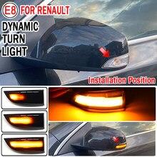 2Pcs Voor Renault Megane MK3 Laguna Iii X91 Scenic Fluence Latitude Safrane Dynamische Richtingaanwijzer Led Blinker Zijspiegel licht