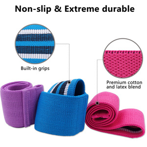Image 3 - Booty Builder Hip Resistance Bands Set Fabric Non Slip for Fitness Yoga Pilates Legs and Butt Glute Workout Stretching Training