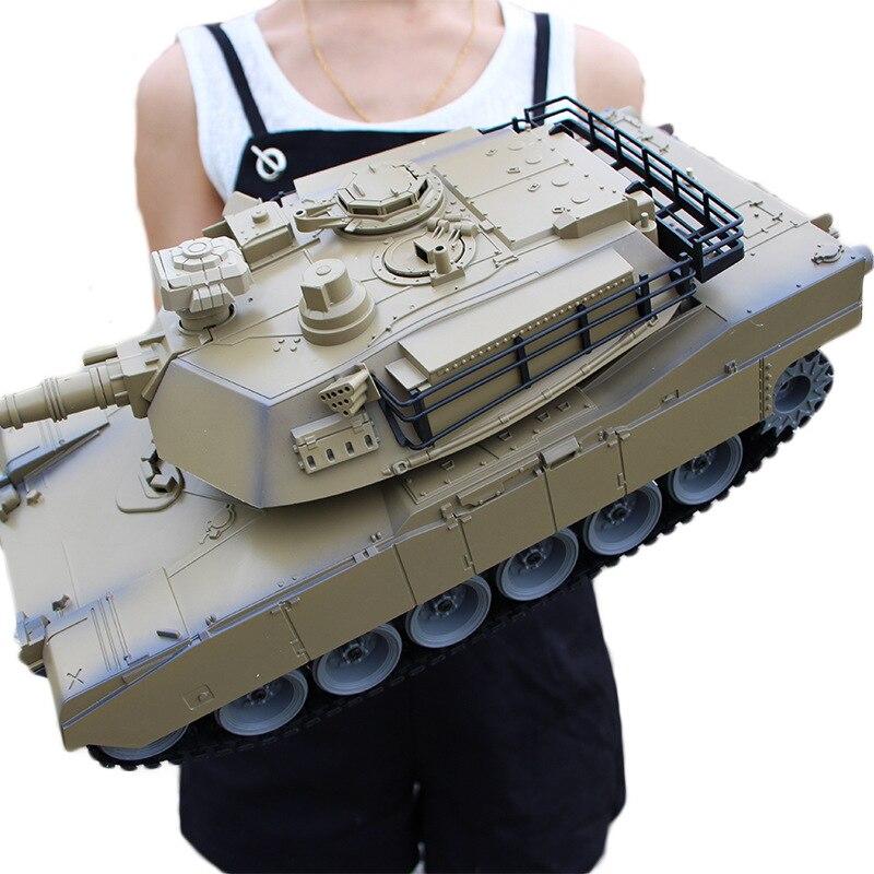 Super Large Remote-control Automobile Battle-Emission Off-road Remote Control Tank Metal Tank Model CHILDREN'S Toy