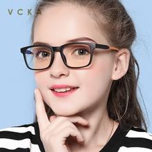 VCKA детский синий светильник, блокирующие очки TR90, анти-напряжение глаз, головная боль, компьютерная игровая защита UV400 для детей 7-12 лет
