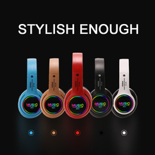 цена на Wireless Bluetooth Headset Foldable Bass Stereo Gaming HIFI Headphone Support Gaming TF Card MP3 LED Cordless Earphone With Mic