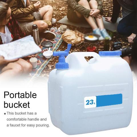 23l carro portatil balde de acampamento ao ar livre auto conducao de armazenamento de agua