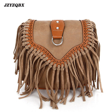 Womens Pouch Tassel Shoulder Bag Vintage Handbag Crossbody Bags For Women Large Capacity Messenger