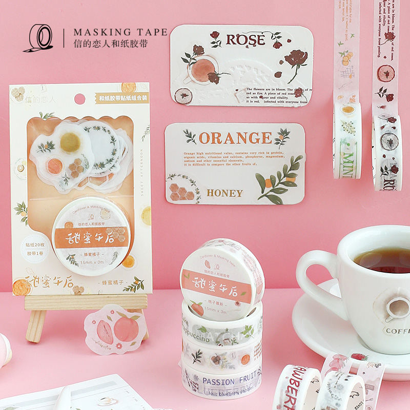 Cute Fruit Dessert Washi Tape Diy Decoration Scrapbooking Planner Masking Tape Adhesive Tape Label Sticker
