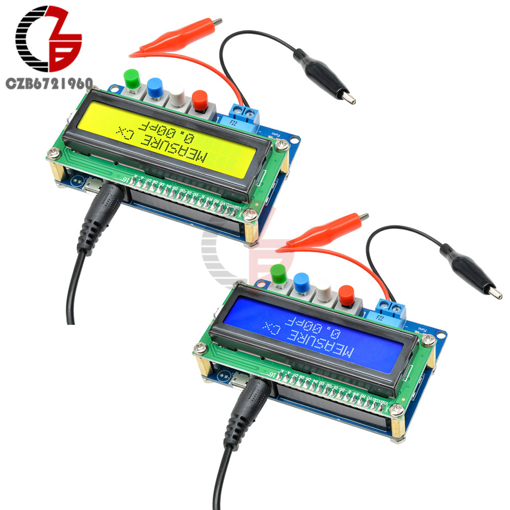 LC100-A 1602 LCD Digital L/C Inductance Capacitance Meter Autoranging Capacitor Inductor Tester 1pF-100mF 1uH-100H