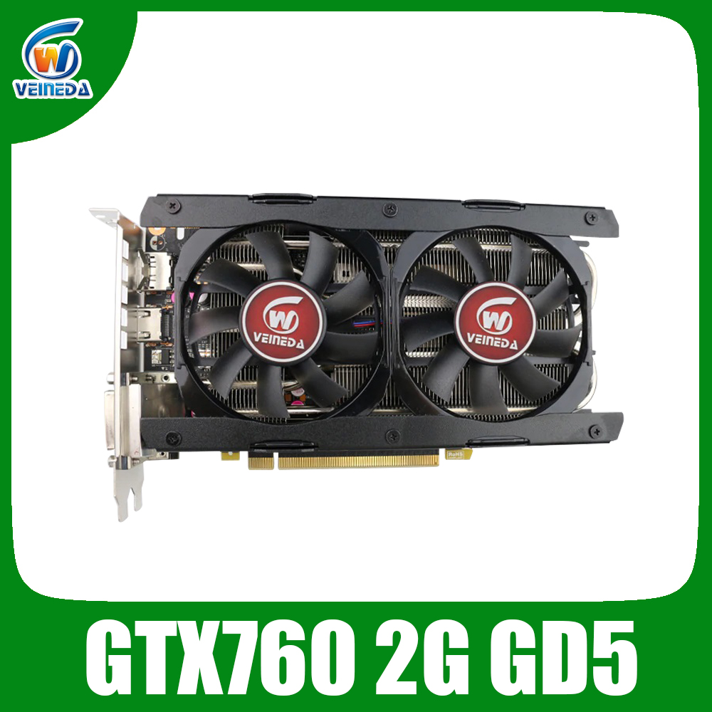 Nvidia Video Cards GTX760 2GB GDDR5 256Bit 6004MHz DVI HDMI Stronger Than GTX950, GTX750Ti