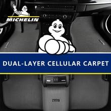 Honingraat dual double layer Ontwerp Auto Vloermat Verbergt Vuil EVA tapijt voor Toyota Crown Camry RAV4 Highlander LC200 Prado tundra