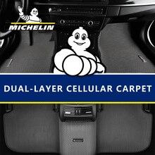 허니 콤 듀얼 더블 레이어 디자인 자동차 바닥 매트 도요타 크라운 캠리 rav4 하이랜더 lc200 프라도 툰드라