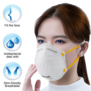 1PCS FFP2 Anti Influenza Mask 4-Layer 99% Filtered Mask Anti Dust Anti Fog Flu Droplets Protective Breathable Ear Loop Mask