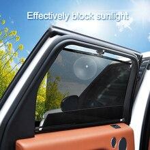 1 ชิ้นรถกระจกบังแดดอัตโนมัติตัดบังแดดหน้าต่างด้านข้างกันสาดRoller Telescopicหน้าต่างรถ