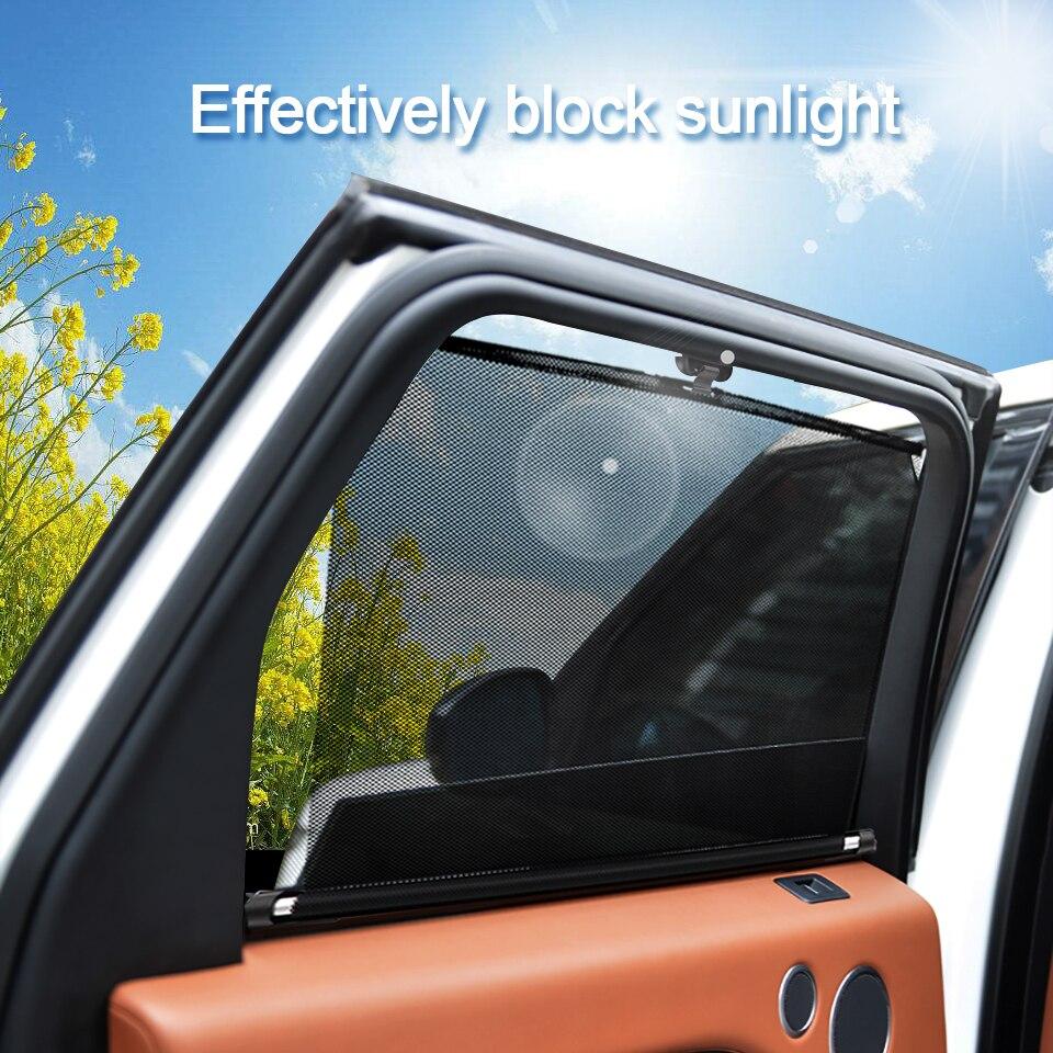 Car Sunshade Windshield Automatic Telescopic Cutting Sunshade Side Window Awning Roller Telescopic Car Window Sunshade