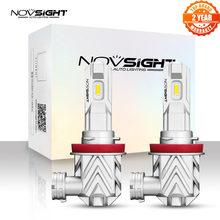 NOVSIGHT-Luz antiniebla de coche, luz LED Mini H11 H8 H9 de 50W, 12V, 10000LM, accesorios para coche, bombillas de coche blancas de 6000K