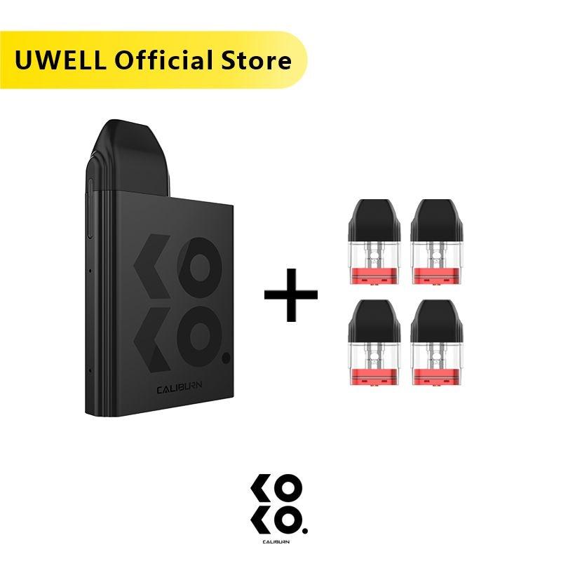 UWELL Caliburn KOKO Pod System Kit And 1Pack 1.2ohm 2ml Refillable Pod Cartridge Top-Fill Vape Pod System