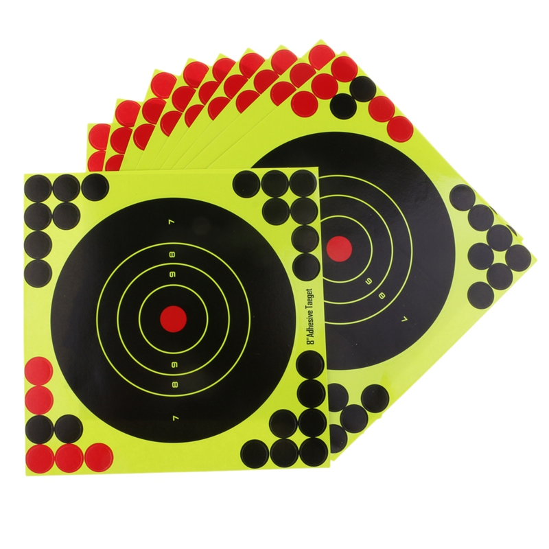 Hot 50Pcs/Set Hunting Targets 8x8 Inch Self Adhesive Paper Reactive Splatter Targets Stickers