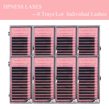 Eye Lashes Extension 3D Individual lash Silk Mink Eyelash Extension 8-15mm All Sizes Premium Soft Lashes HPNESS фото