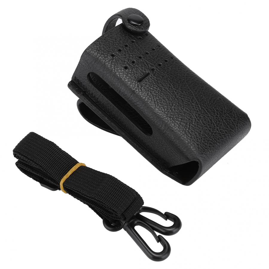Walkie Talkies Accessories  Walkie Talkie Two-way Radio Protective PU Leather Case Cover Suitable For Motorola P6600