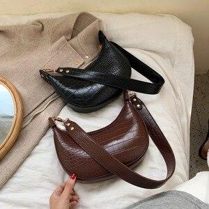 Image 5 - Taş desen Retro PU deri kadınlar için Crossbody çanta 2021 küçük omuz basit çanta bayan telefonu çanta ve çantalar