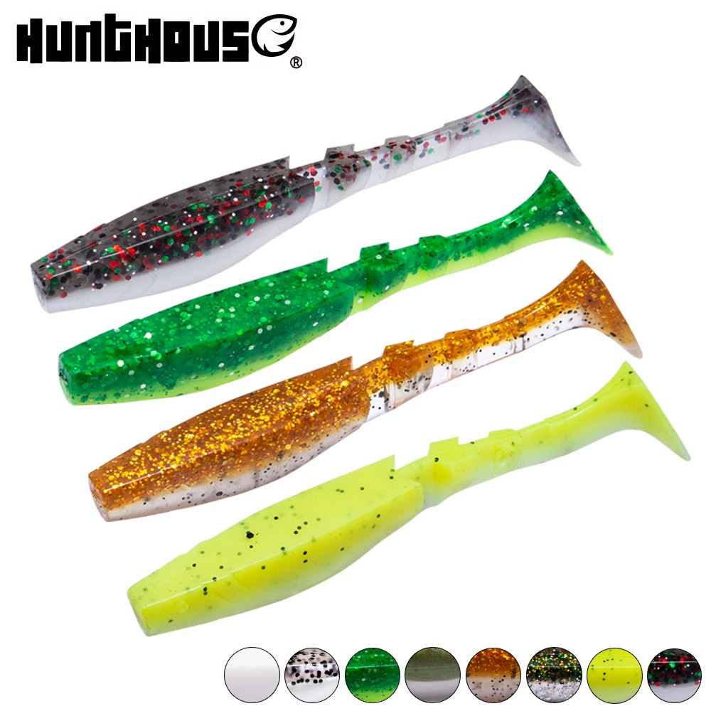 Hunt House Easy Shiner Shad 5pcs/bag T-tail 5.5cm/8.5cm Soft Plastic Lure Relax Shark For Bass Perch Silicone Leurre Souple