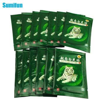 Sumifun 16Pcs Vietnam White Tiger Balm Pain Patch Muscle Shoulder Neck Arthritis Chinese Herbal Medical Plaster C068 24pcs sumifun tiger balm medical plaster pain relief patch back neck arthritis 100% original chinese herbal stickers health care