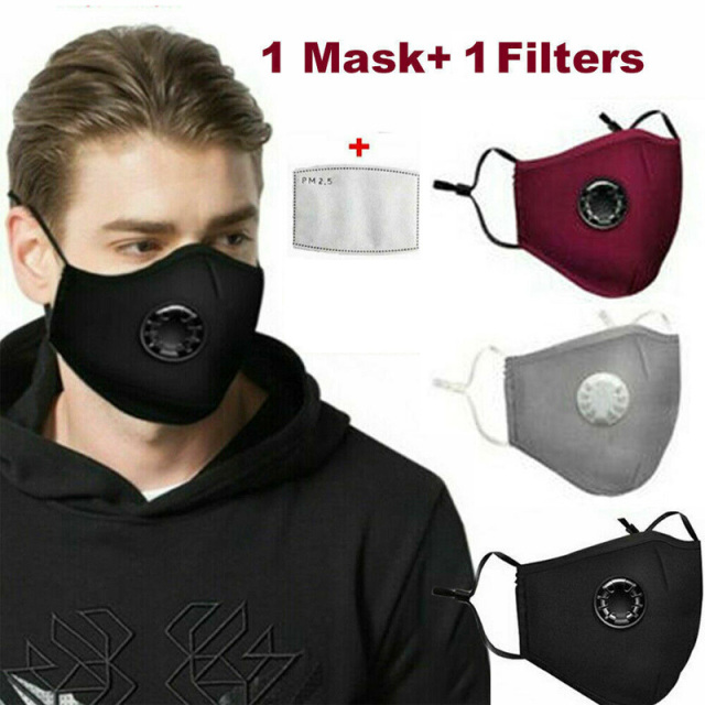 Cotton Face Mask PM2.5 Respirator Face Mask Activated Cover Mouth Anti Dust Haze Pollution Bacteria Proof Flu Masks with Filter