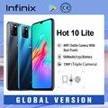 Infinix Горячая 10 Lite смартфонов 5000 мАч большой Батарея отпечатков пальцев и распознавания лиц и 13MP тройной Камера Android 10 6,6