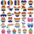 Разноцветные Милые Игрушки-антистресс с пузырьками из нас, антистрессовые игрушки для взрослых, детский подарок, кавайные игрушки в подаро...