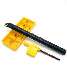 Держатель спирального токарного инструмента S06K SCLCR06 S06K S07K S08K S10K S12M S14N S16Q, 95 градусов, Расточная штанга + 10 шт. карбидных инструментов CCMT060204