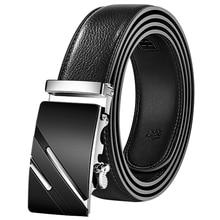 Men Belt Automatic Genuine Leather Luxury Black Belt Men's