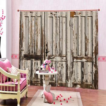 3D Curtains Living Room Bedroom Drapes Cortinas Customized size wood door curtains  Blackout curtain