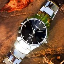 Mens quartz watch 36.5MM Sapphire glasblack dial Fashion