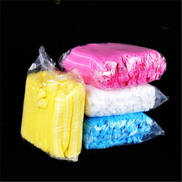 10 шт., Нетканые Одноразовые эластичные колпачки для душа для женщин и мужчин, плиссированная противопыльная шапочка для ванны для спа, парик...