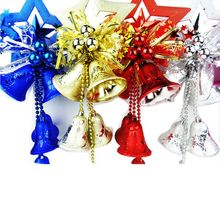 PXmas Plastic New Year Wall Tree Hanging Decor String Star Bell Christmas for Home Shop Display Window CM