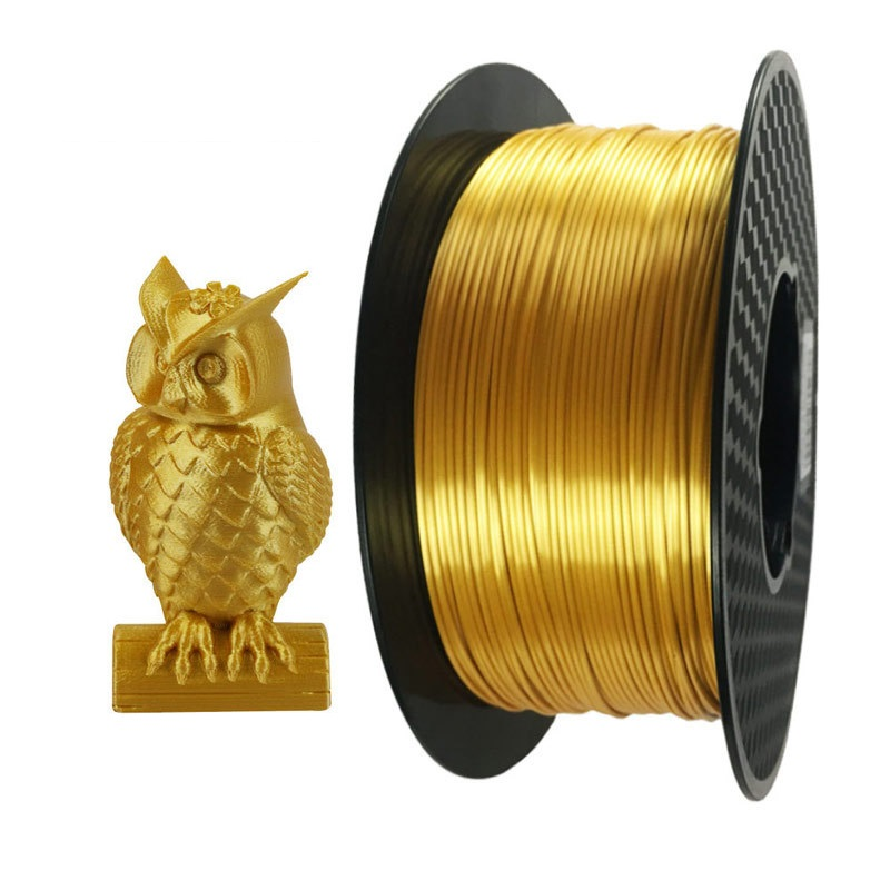 Silk PLA Gold Black 3D Printer Filament 1 75mm 1kg Silky Shine Golden 3d Pen Shiny Metal Metallic Printing Materials Rich Luster